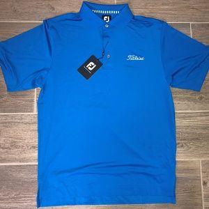 Men FOOTJOY TITLEIST Blue Golf Shirt NWT Sz. S